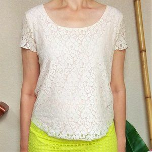 4/$15⚡ Cynthia Rowley Floral Lace Top